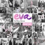 El equipo al completo de Clínicas EVA se suma al rosa