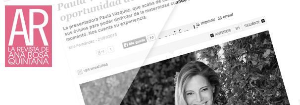 """Paula Vázquez: """"No quiero perder la oportunidad de ser madre"""""""